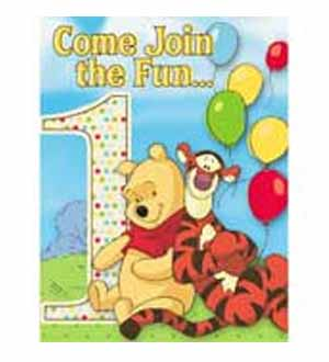 Pooh and Pals Invitations 8ct