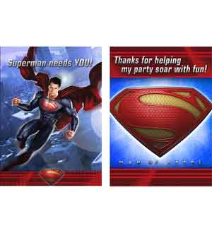 Superman Invitation and Thank You Note