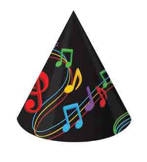 Dancing Music Notes Hat 8ct - Child Size