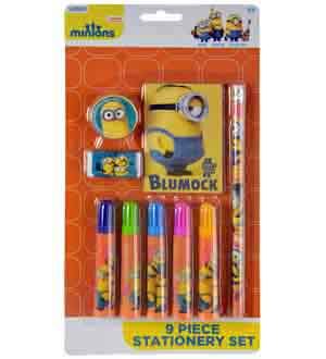 The Minions Stationery Set On 9pc