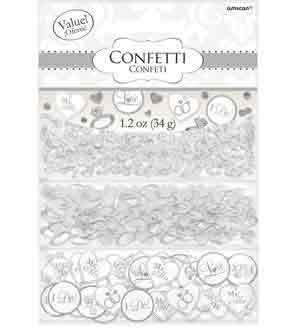 Bridal Confetti - I Do Ring White 1.2oz