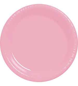 New Pink Plastic Plate 10.25in 20ct