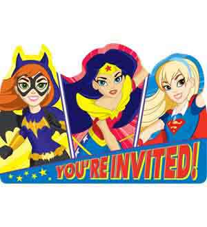 DC Super Hero Girls Invitation 8ct