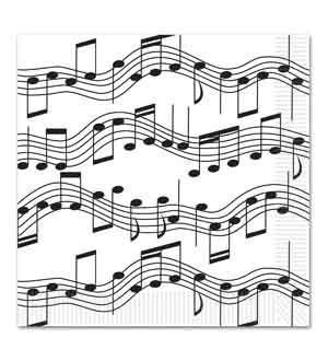 Music Musical Note Napkin (L)