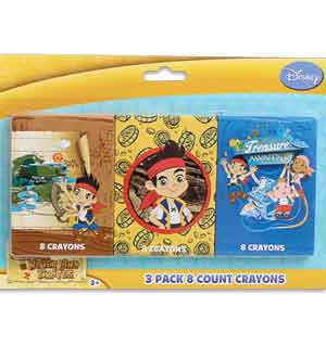 Jake and The Neveland Crayons 8ct