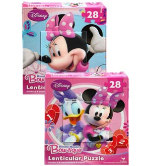 Minnie Bowtique Lenticular Puzzle 28pc