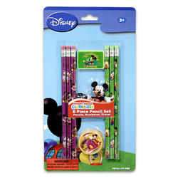 Mickey Pencil and Erasers 8ct