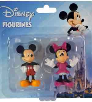 Mickey and Minnie Figure 2pc