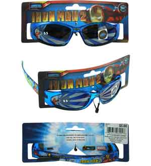 Iron Man Kids Sunglasses On Card